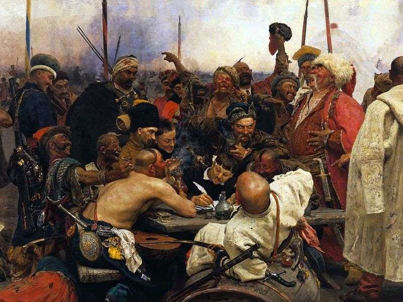 Kozacy napisali list do tureckiego sułtana   Ilyi Repin