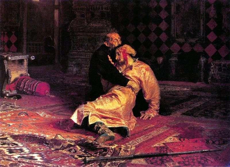 Iwan Groźny i jego syn Iwan   Ilya Repin