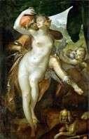 Venus i Adonis   Bartholomeus Spranger