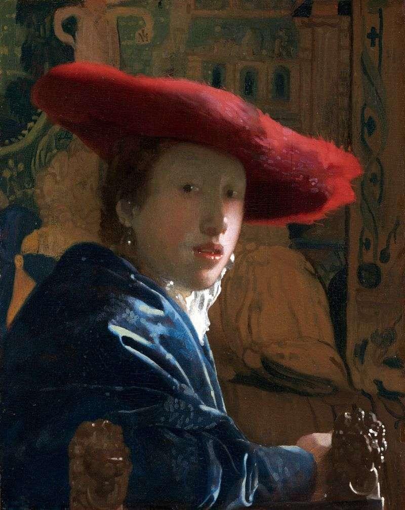 Portret dziewczynki w czerwonym   Jan Vermeer