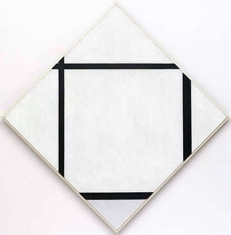 Szary diament z czterema liniami   Peter Cornelis Mondrian