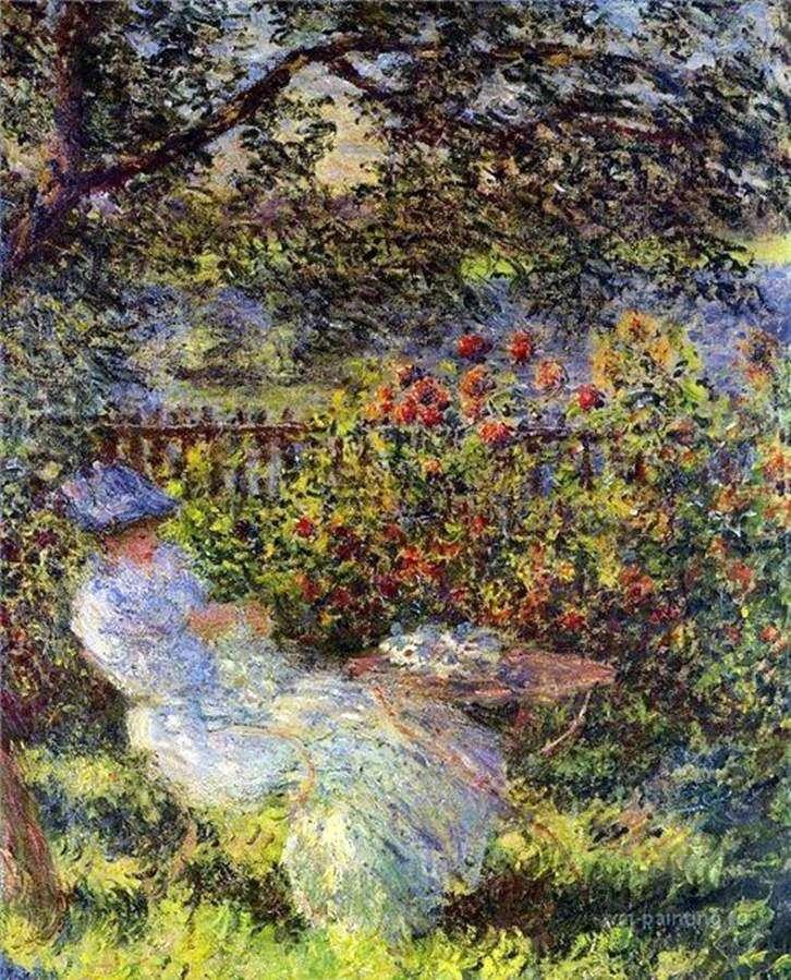 Alice Hoshede in the Garden   Claude Monet