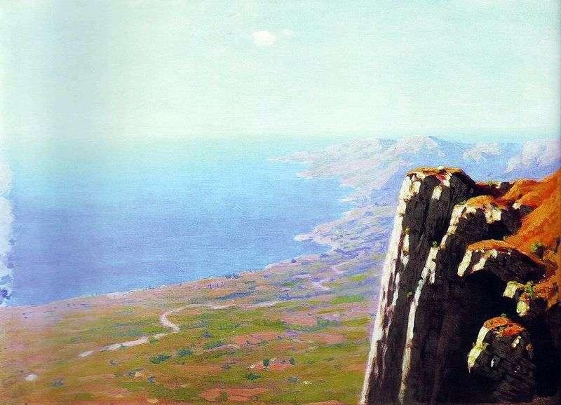 Wybrzeże morskie ze skałą   Arkhip Kuindzhi