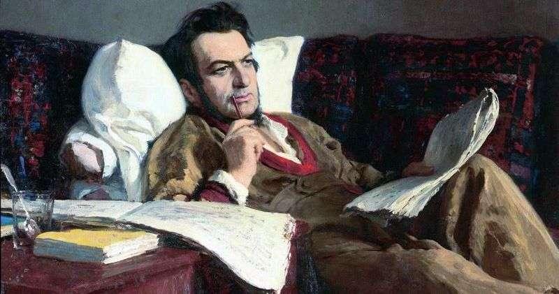 Michaił Iwanowicz Glinka w okresie komponowania opery Rusłan i Ludmiła   Ilya Repin