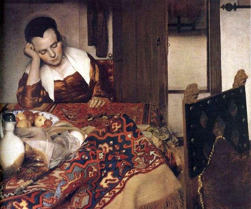Śpiąca dziewczyna   Jan Vermeer