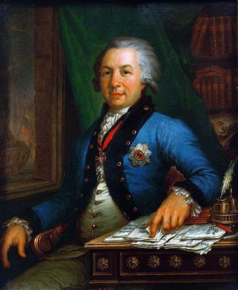 Portret poety G. R. Derzhavin 1795   Vladimir Borovikovsky
