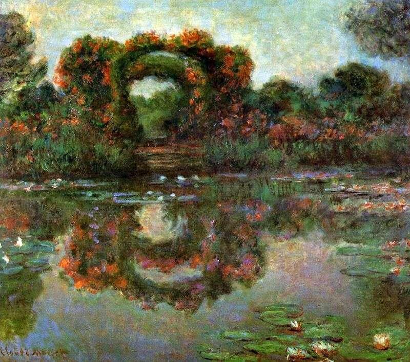 Łuk w kwiatach, Giverny   Claude Monet