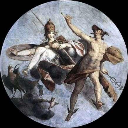 Hermes i Atena   Bartholomeus Spranger