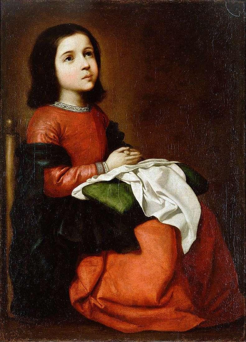 Adolescencja Matki Bożej   Francisco de Zurbaran