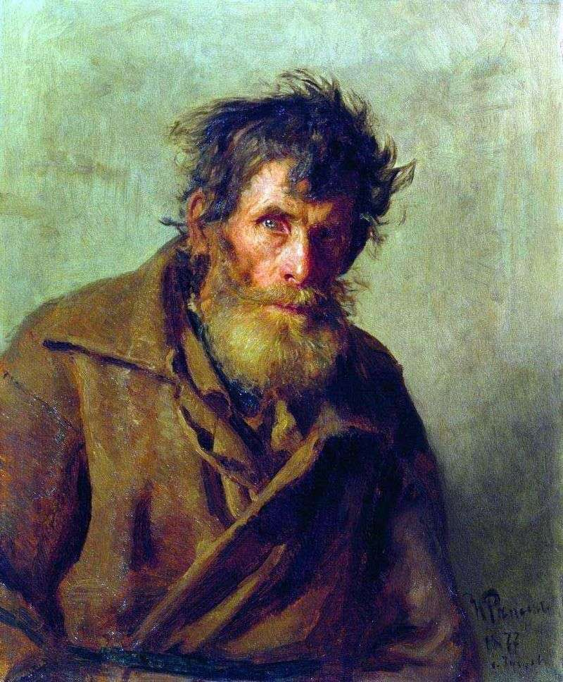 Nieśmiały mały człowiek   Ilya Repin