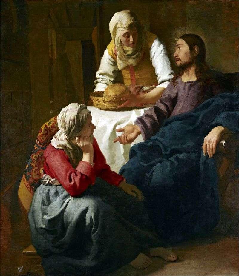 Chrystus w domu Marty i Marii   Jan Vermeer