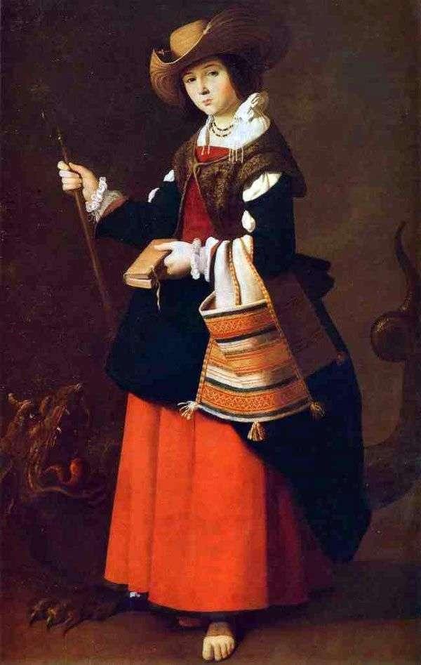 Święta Małgorzata Antiochii   Francisco de Zurbaran