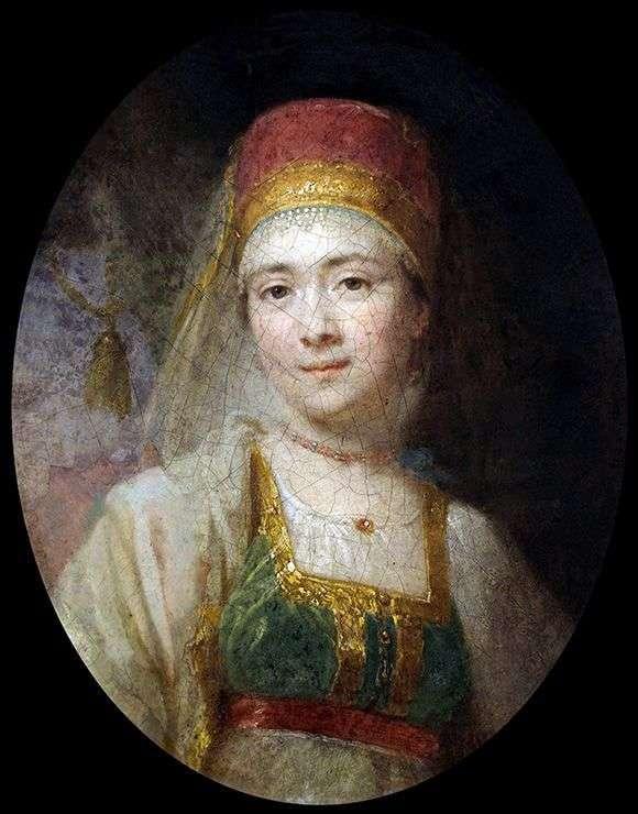 Portret Chłopka Torzhkovskaya Christinyi   Vladimir Borovikovsky