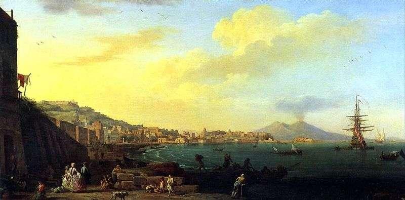 Widok na Neapol z Wezuwiuszem   Claude Vernet