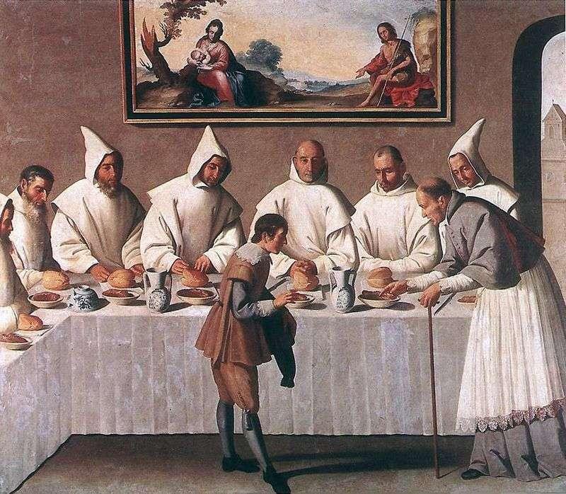 Cud sv. Hugo Grenoble w refektarzu klasztoru   Francisco de Zurbaran