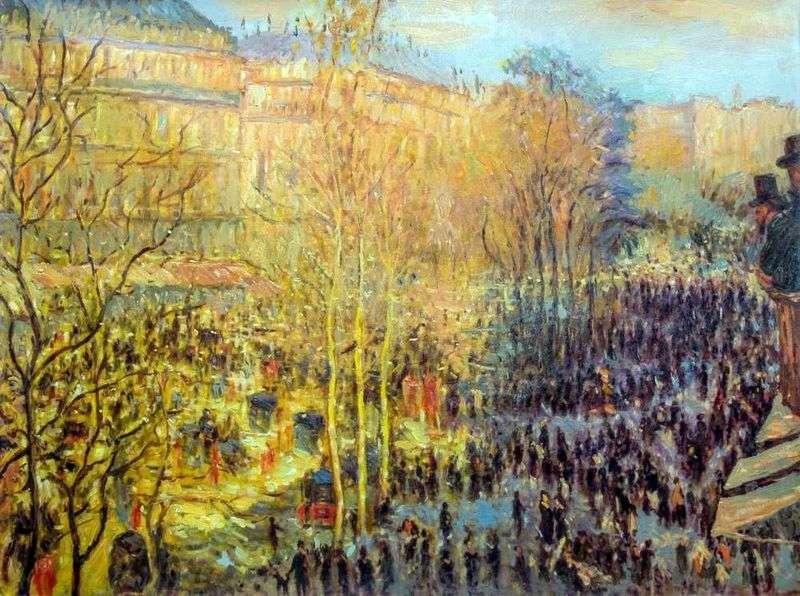 Boulevard des Capucines w Paryżu   Claude Monet