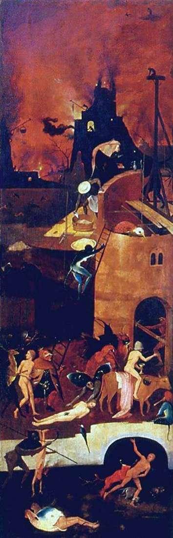 Piekło, ołtarz Woz siana. Prawa migawka   Hieronymus Bosch