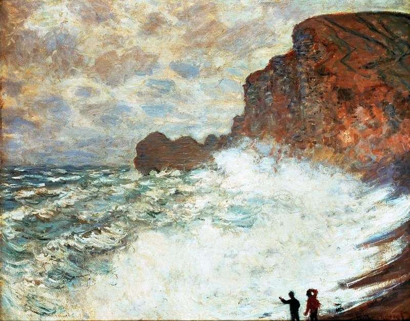 Wietrzny dzień. Etretat   Claude Monet