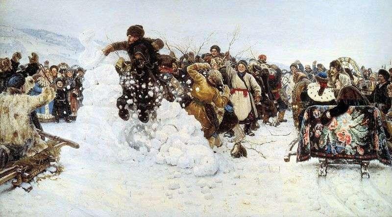Zabranie śnieżnego miasta   Wasilij Surikow