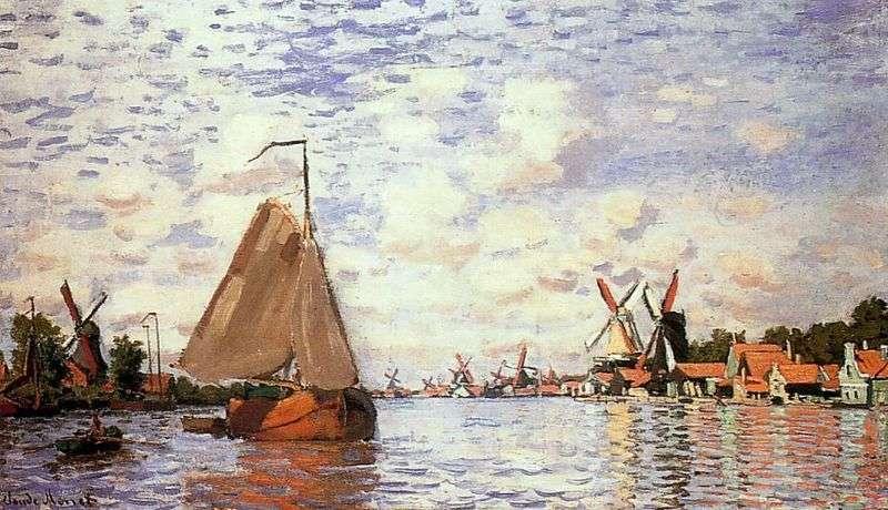 Widok Zaandam   Claude Monet