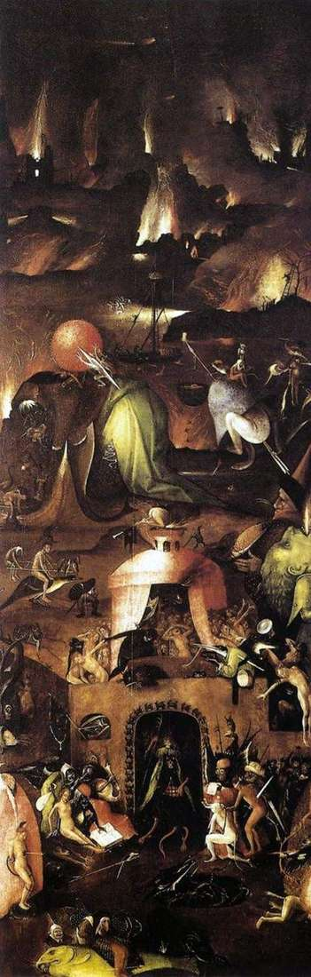 Piekło Right Shutter Altar Last Judgement   Hieronymus Bosch