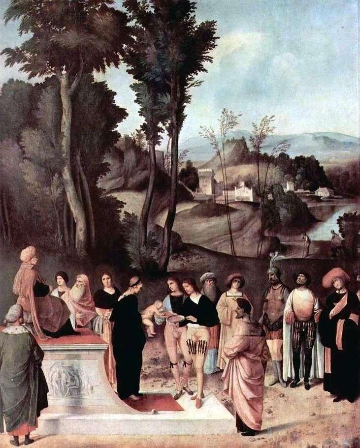 Test Mojżesza przy ogniu   Giorgione