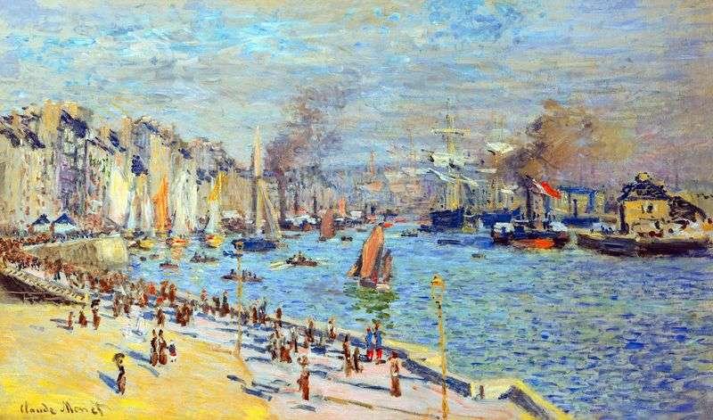 Widok na stary port w Le Havre   Claude Monet