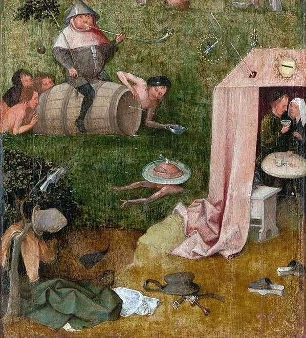 Alegoria obżarstwa i amatorstwa   Hieronim Bosch