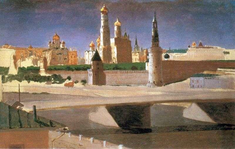 Moskwa Widok na Kreml z Zamoskvorechye   Arkhip Kuindzhi