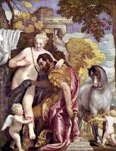 Wenus i Mars połączone przez Kupidyna   Paolo Veronese