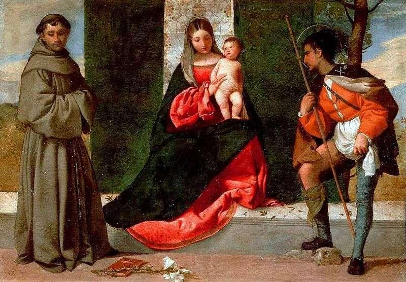 Madonna z Dzieciątkiem, Saints Rock i Anthony z Padwy   Giorgione