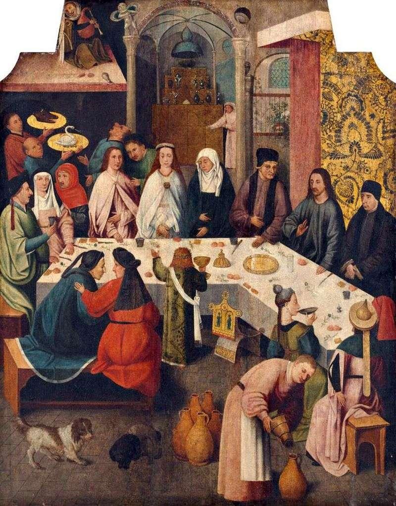 Małżeństwo w Kanie Galilejskiej   Hieronim Bosch