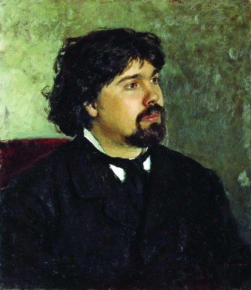 Portret V. Surikova   Ilya Repin