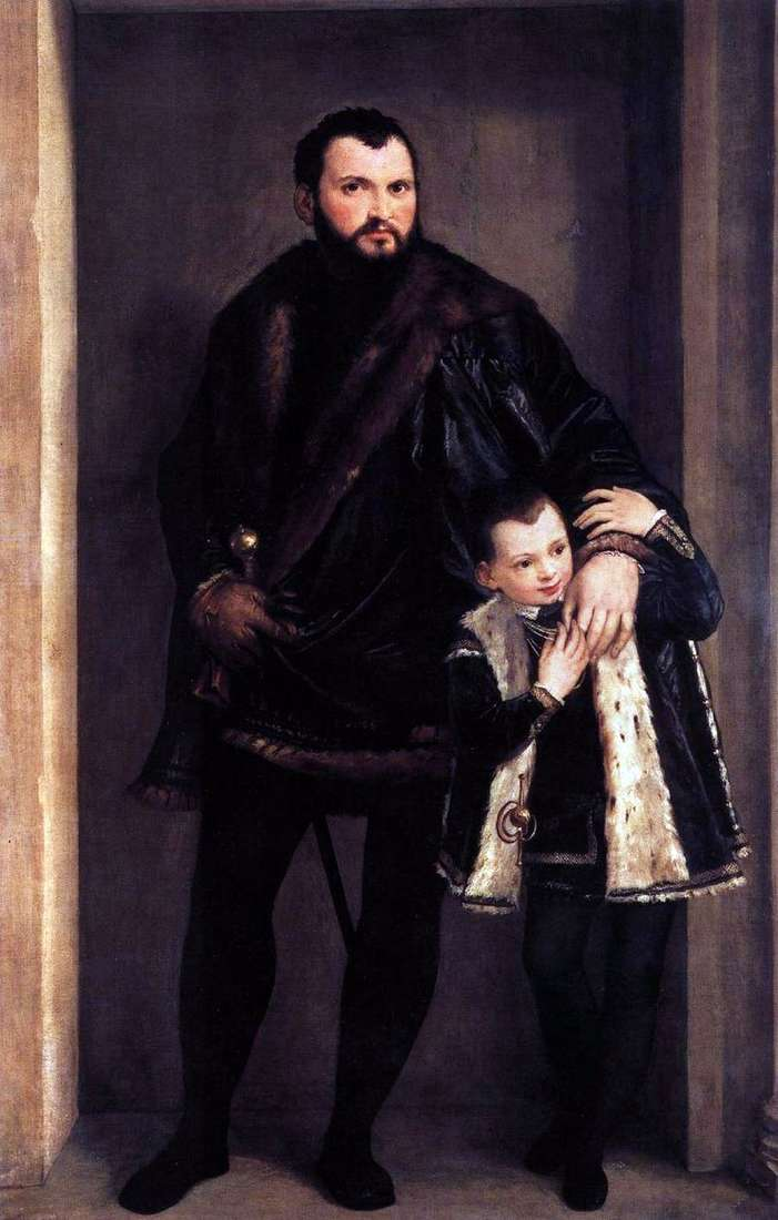 Comte de Porto ze swoim synem Adriano   Paolo Veronese
