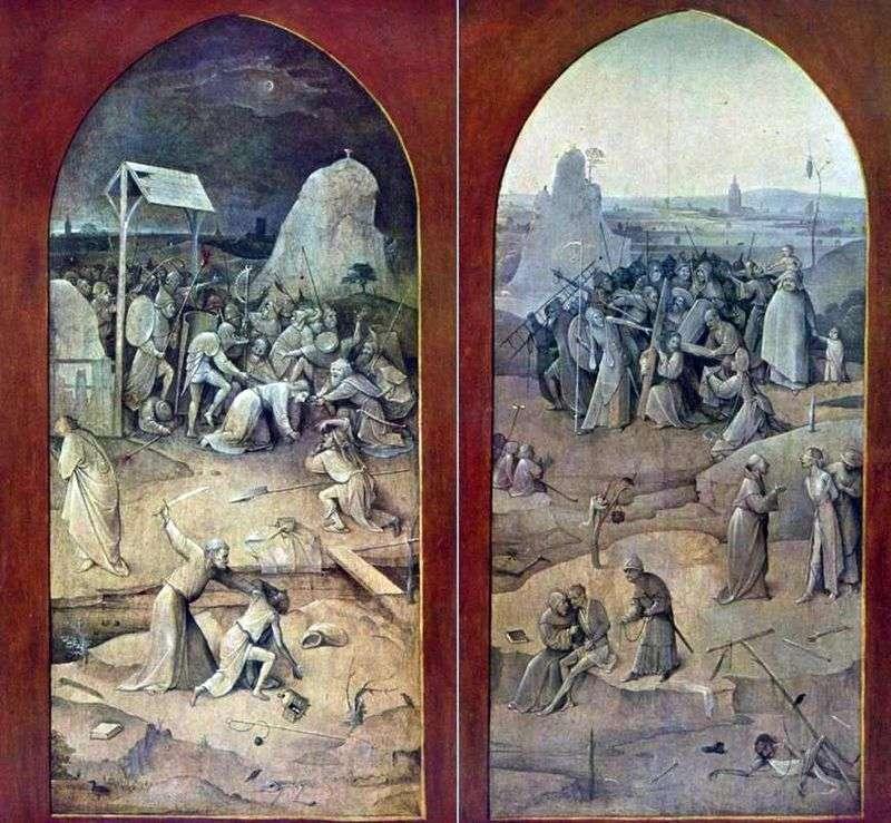 Biorąc pod opiekę i niosąc krzyż. Outer Altar Wings   Hieronymus Bosch