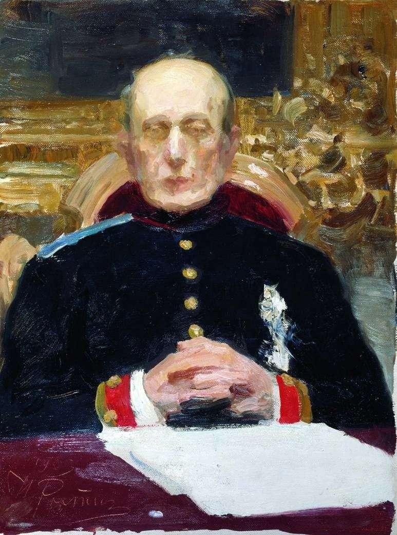 Portret K. P. Pobedonostsev   Ilya Repin