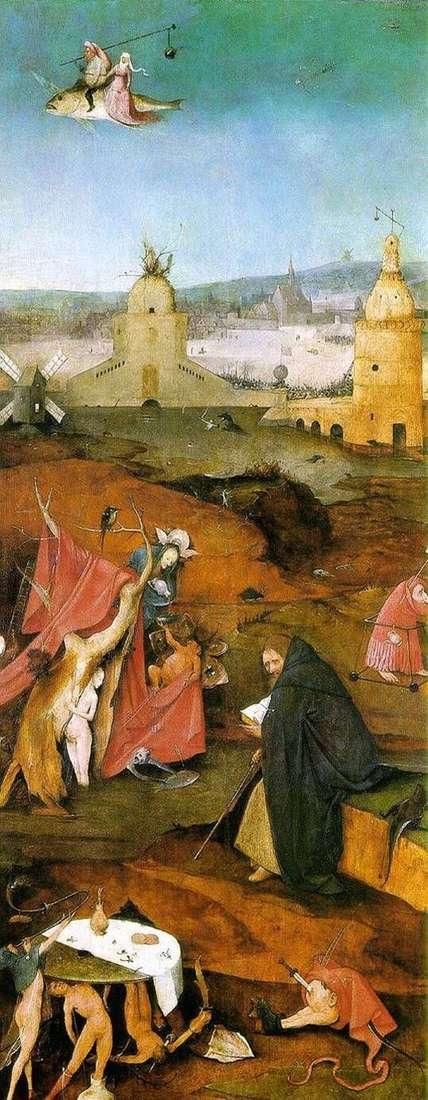 Wizje św. Antoniego. Altar Right Wing   Hieronymus Bosch