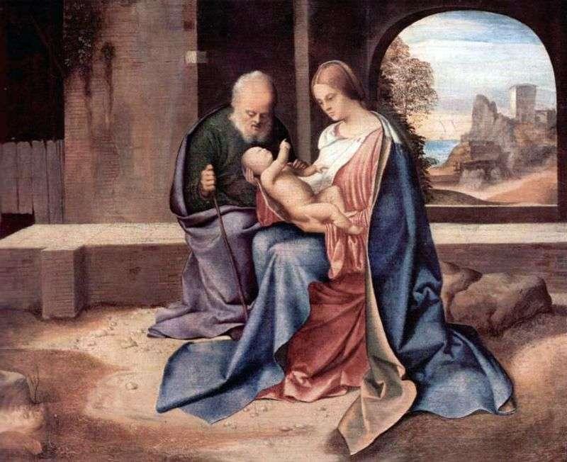 Święta rodzina   Giorgione