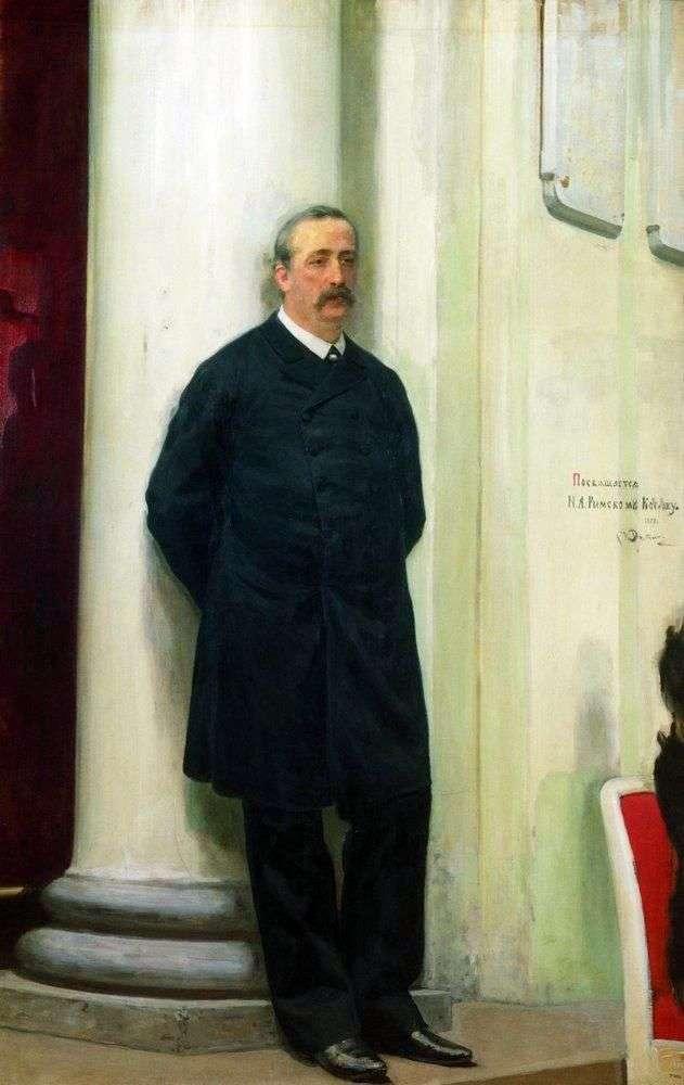 Portret kompozytora i chemika Aleksandra Borodina Porfiriewicza   Ilya Repin