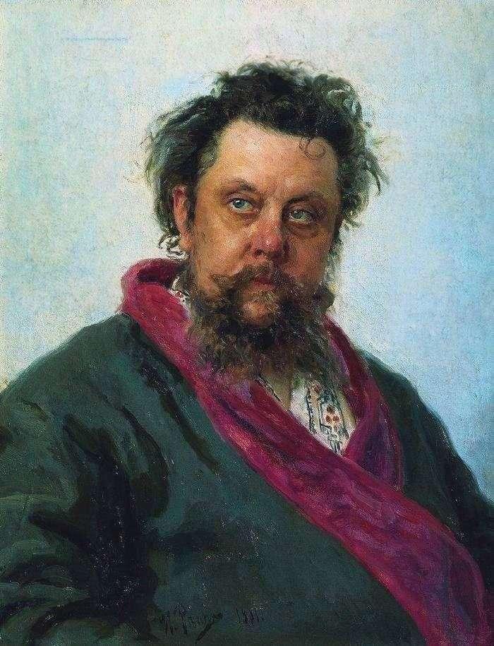 Portret kompozytora M. P. Mussorgsky   Ilya Repin