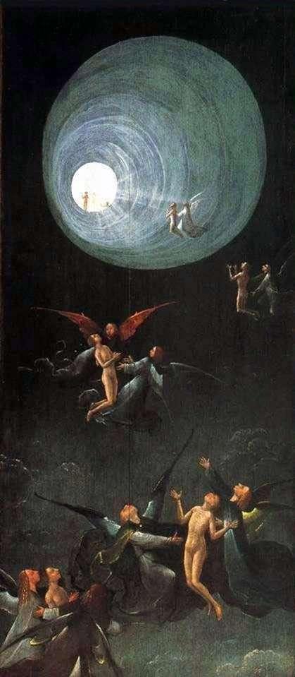 Wniebowstąpienie w Imperium, Wizje następnego świata. Część ołtarza   Hieronima Boscha