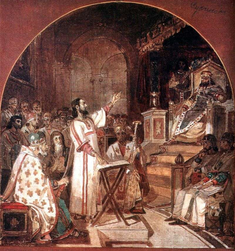 Pierwsza Rada Ekumeniczna w Nicei   Wasilij Surikow
