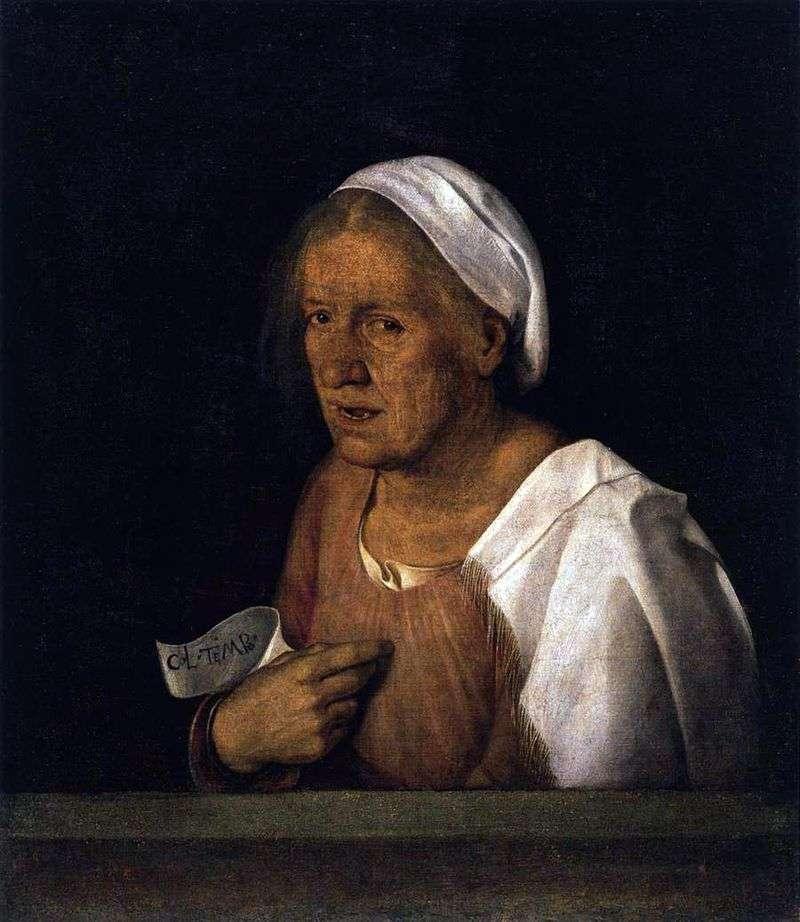Stara kobieta   Giorgione