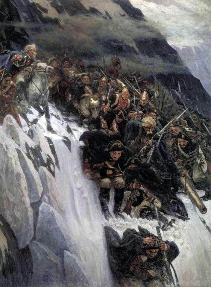 Suworow Przekraczanie Alp   Wasilij Surikow