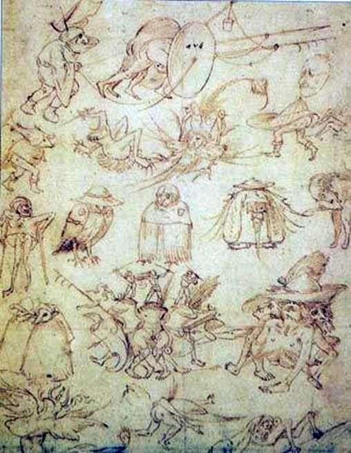 Groteskowe szkice   Hieronymus Bosch
