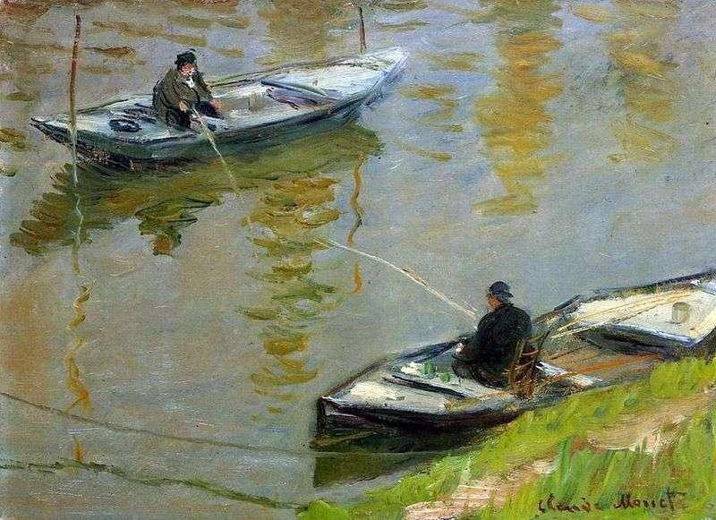 Dwóch wędkarzy   Claude Monet