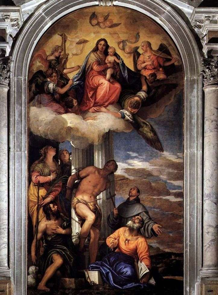 Madonna w chwale ze św. Sebastianem i innymi świętymi   Paolo Veronese