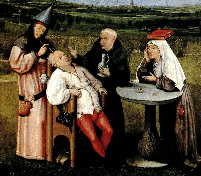 Usunięcie kamienia głupoty   Hieronymus Bosch