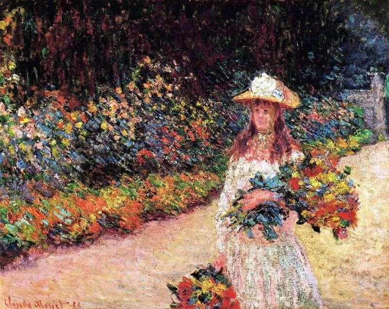 Dziewczyna w ogrodzie, Giverny   Claude Monet