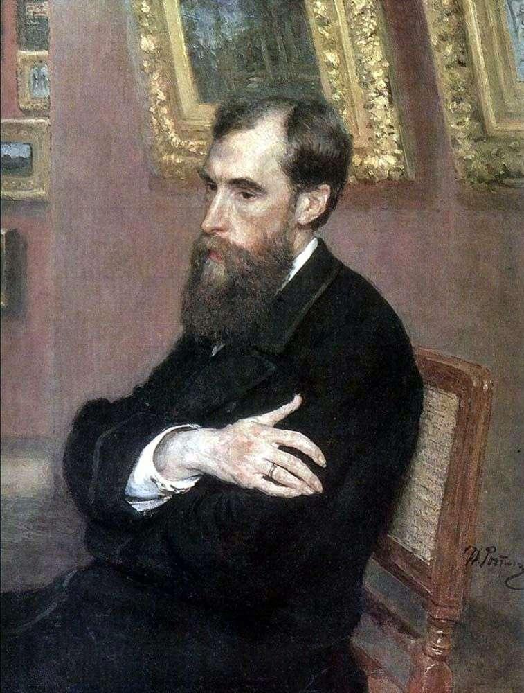 Portret P. M. Tretyakov   Ilya Repin